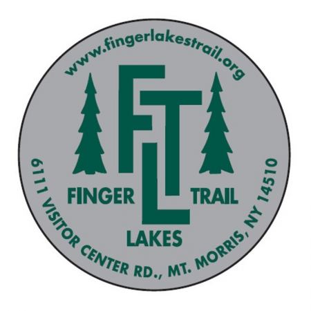 Finger Lakes Trail Sticker Silver