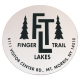 Finger Lakes Trail Sticker White