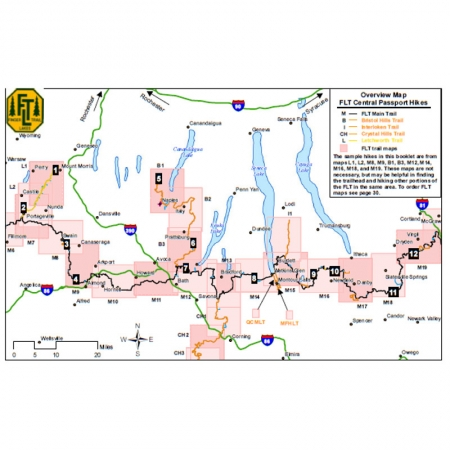 Finger Lakes Trail Central Passport Guidebook Map