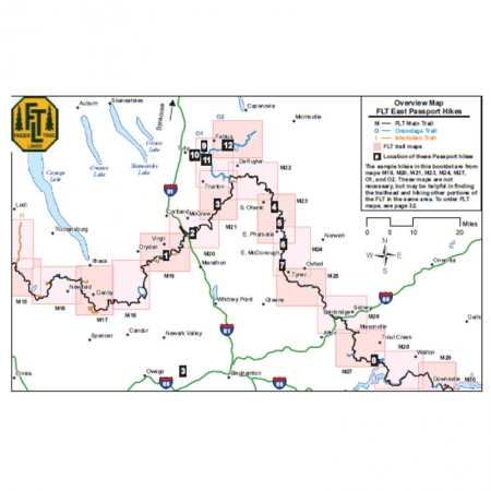Finger Lakes Trail Eastern Passport Guidebook Map