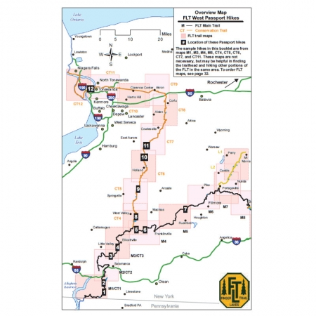 Finger Lakes Trail Western Passport Guidebook Map